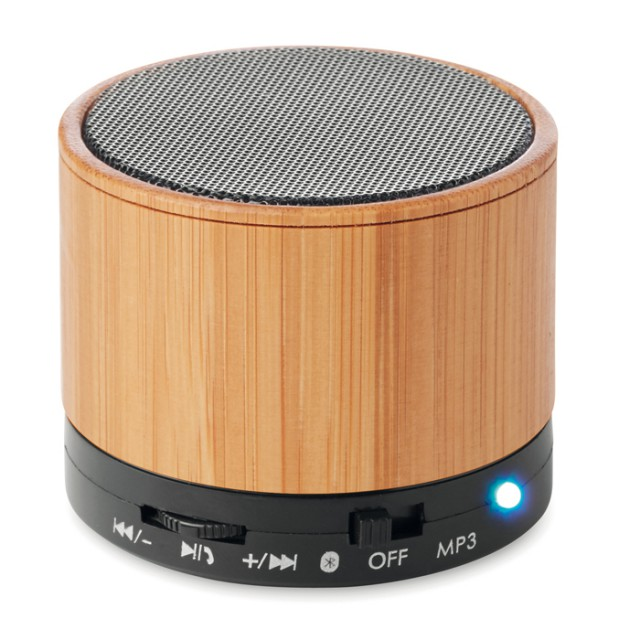 Speaker bluetooth in bamboo