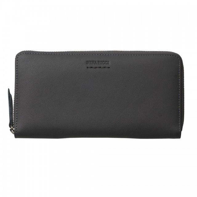 Zipped wallet Sellier Gris