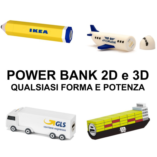 POWER BANK 2D e 3D