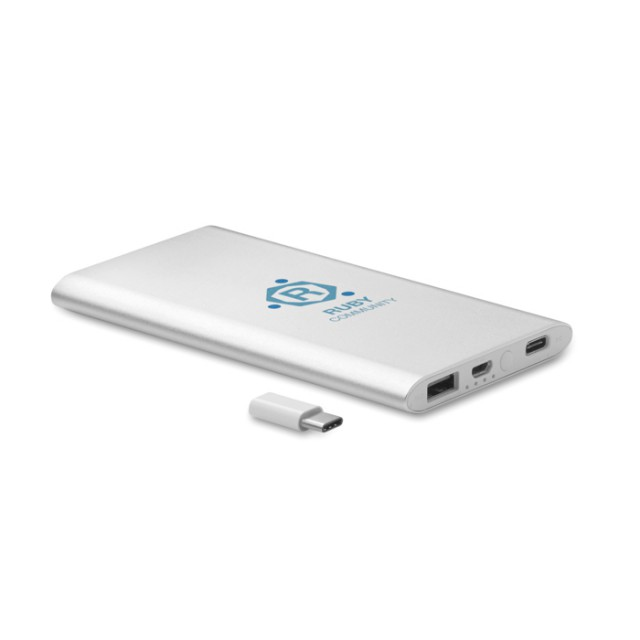 Power bank 4000 mAh tipo C