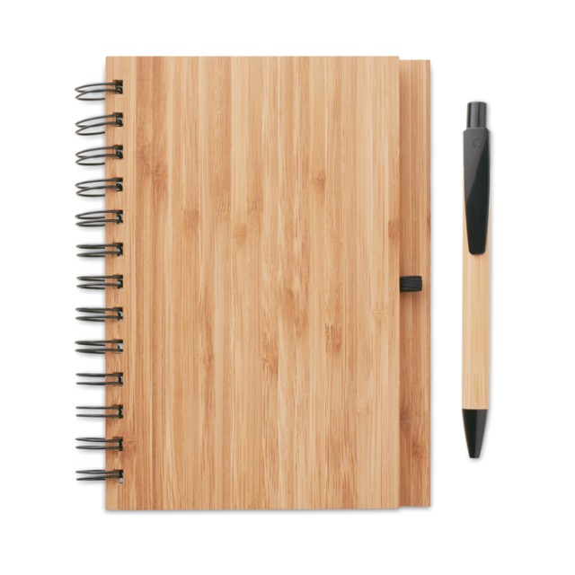 Notebook in bamboo con penna