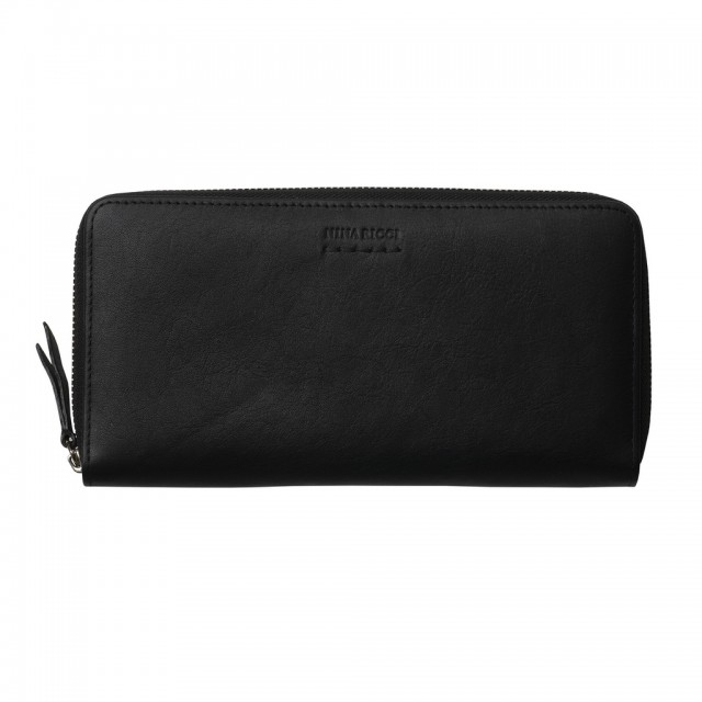 Zipped wallet Sellier Noir